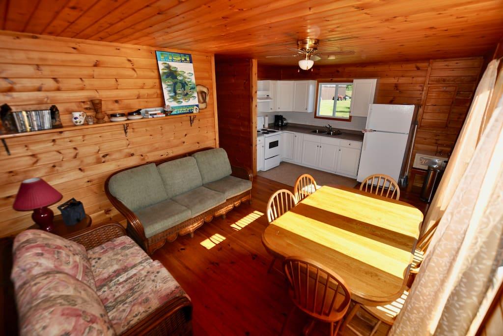 Open living area overlooking the water