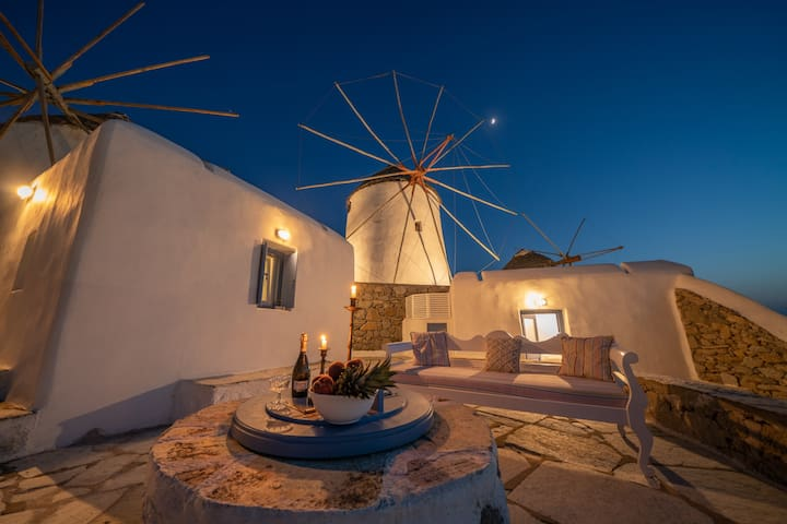 Iconic Windmill in Mykonos Town