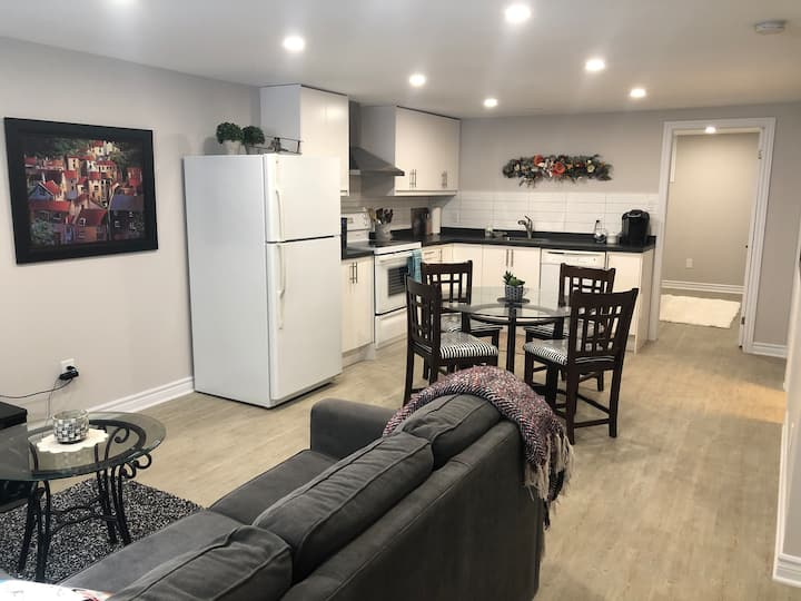 Beautiful, clean, new private basement apartment