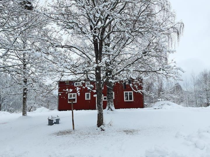 Lantligt  boende nära skidåkning i Säfsen