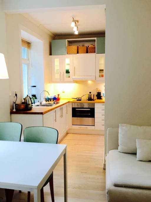 A fully equipped modern kitchen