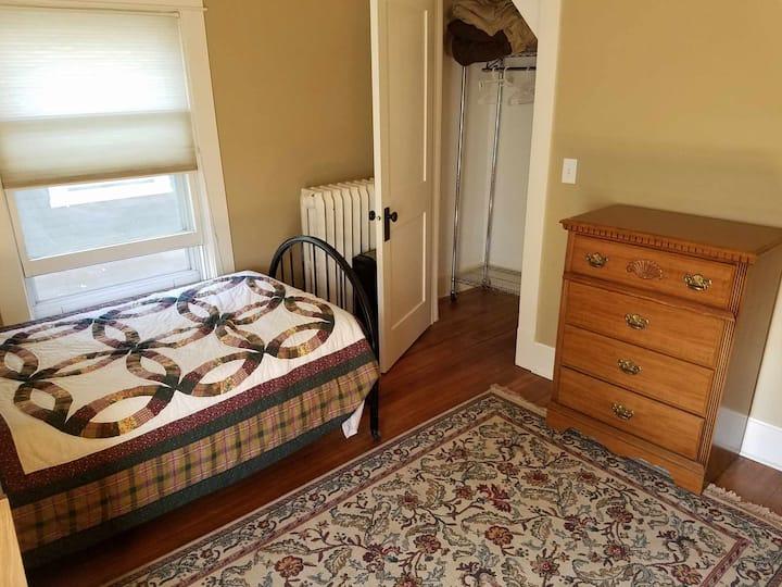 Sunny bedroom in family home
