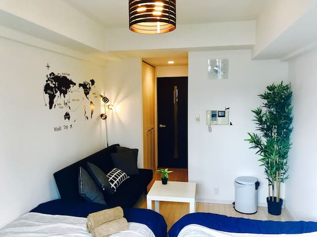 4 min walk from Nankai Namba Station - Namba,near