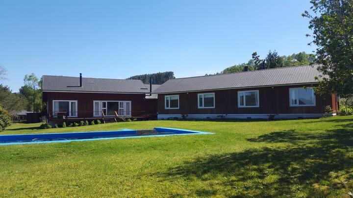 Casa Quimán, Futrono, Lago Ranco (para 2 Familias)