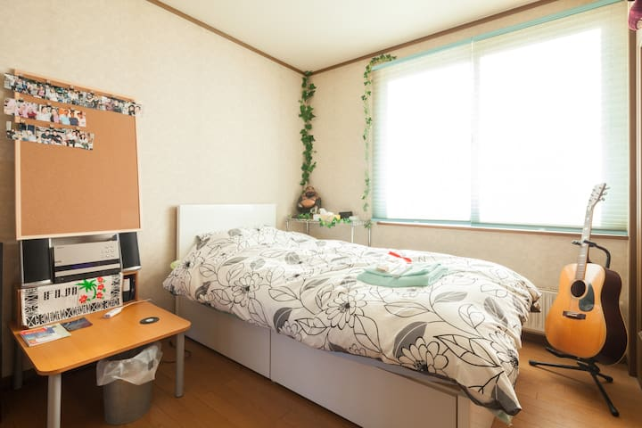 Memory foam mattress bed ☆(JR Shiroishi Sta 6min) - Sapporo-shi - Huis