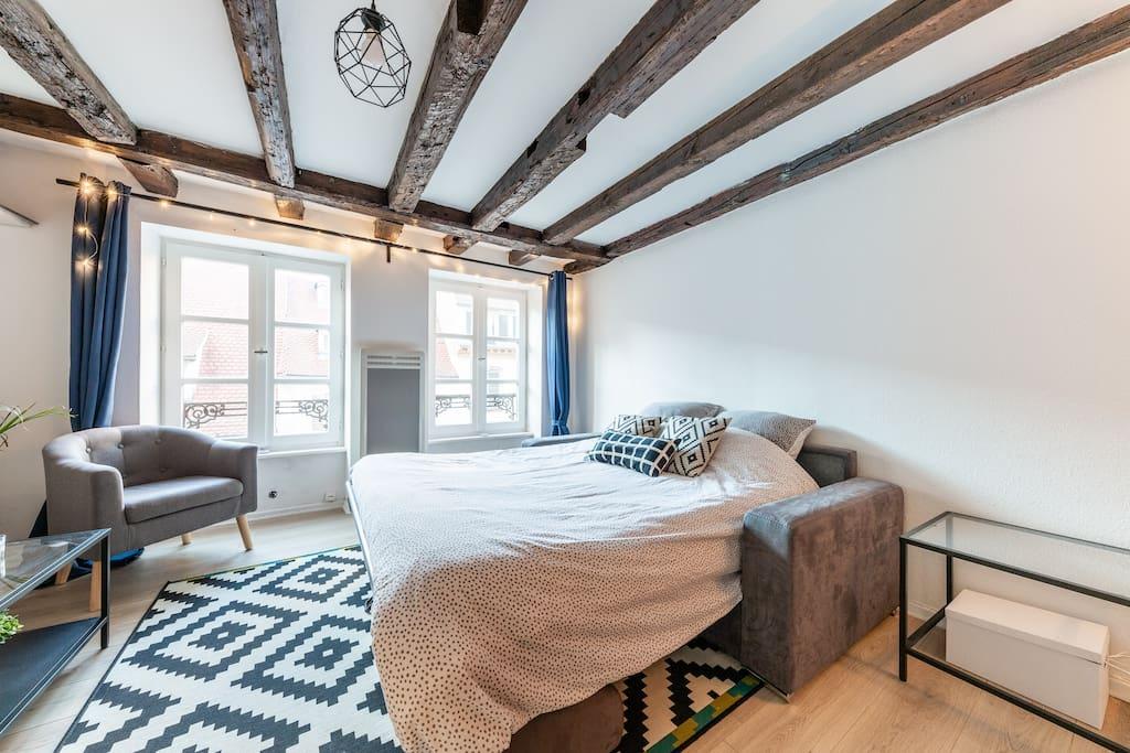 Sofa-bed in Living Room -  Canapé lit dans le séjour 140x200