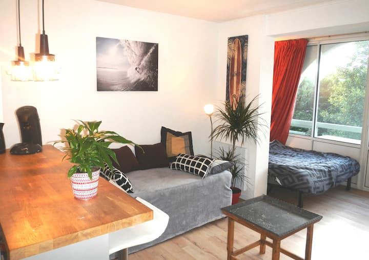 Anglet/Biarritz: Appartement T1 bis avec coin lit