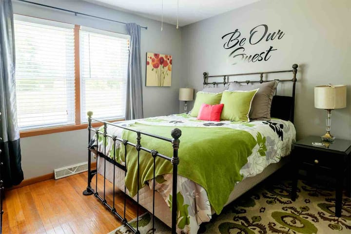 Bedroom #2 has a queen bed, TV, plus a dresser and closet for your items.