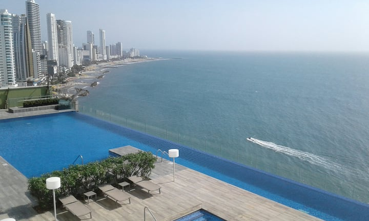 "Beautiful Cartagena bay view . ""Bocagrande""."