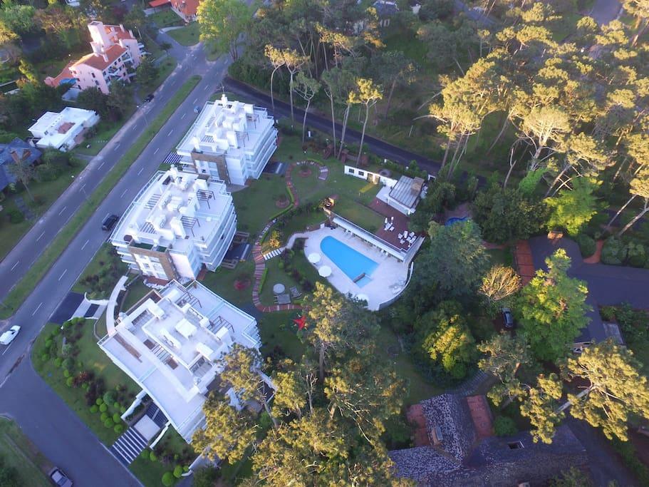vista aerea con drone