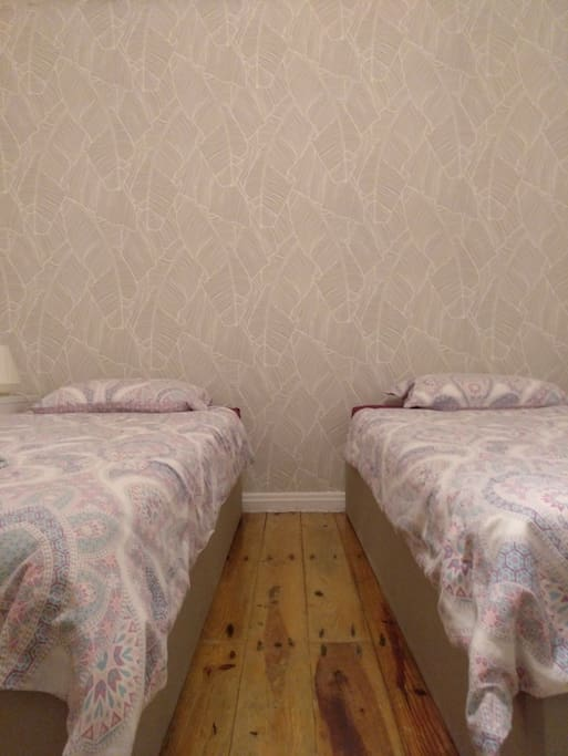 The same disposition is presented here (2 single beds).