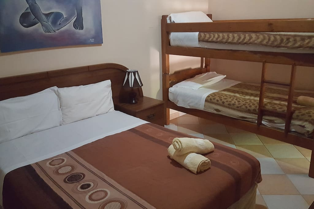 Bedroom#1 (1 double + 1 bunk bed)