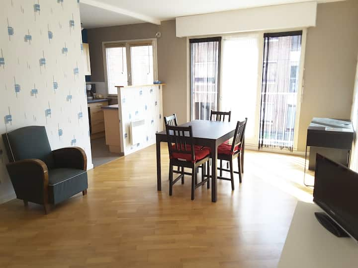 Appartement calme 50 m2 + parking