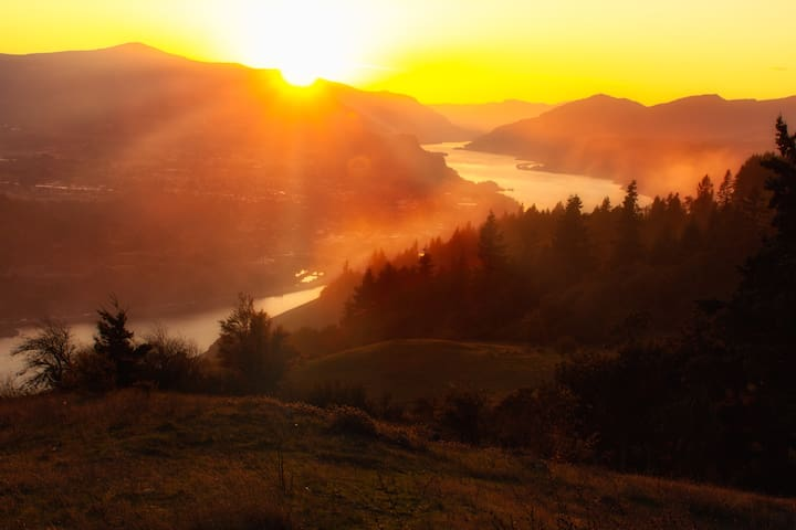 Image by Paloma Ayala, used with permission: The mighty Columbia River Gorge, looking West from the WA side of the river.