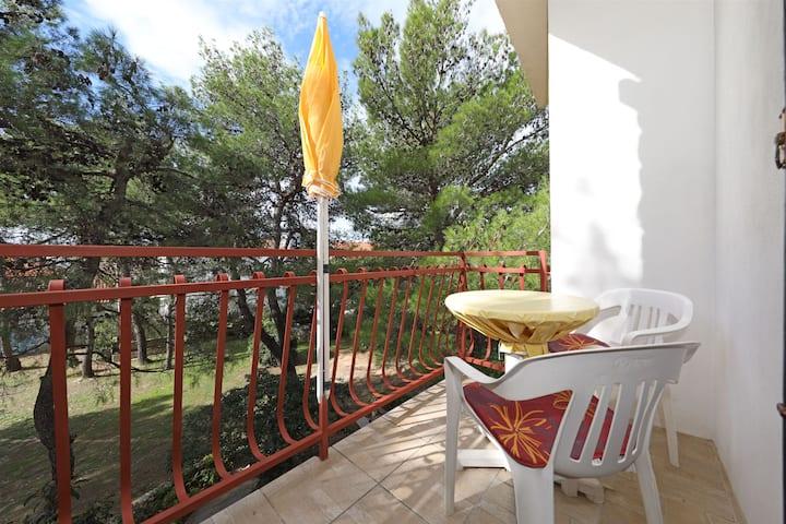 Chambre, à Vodice, La terrasse