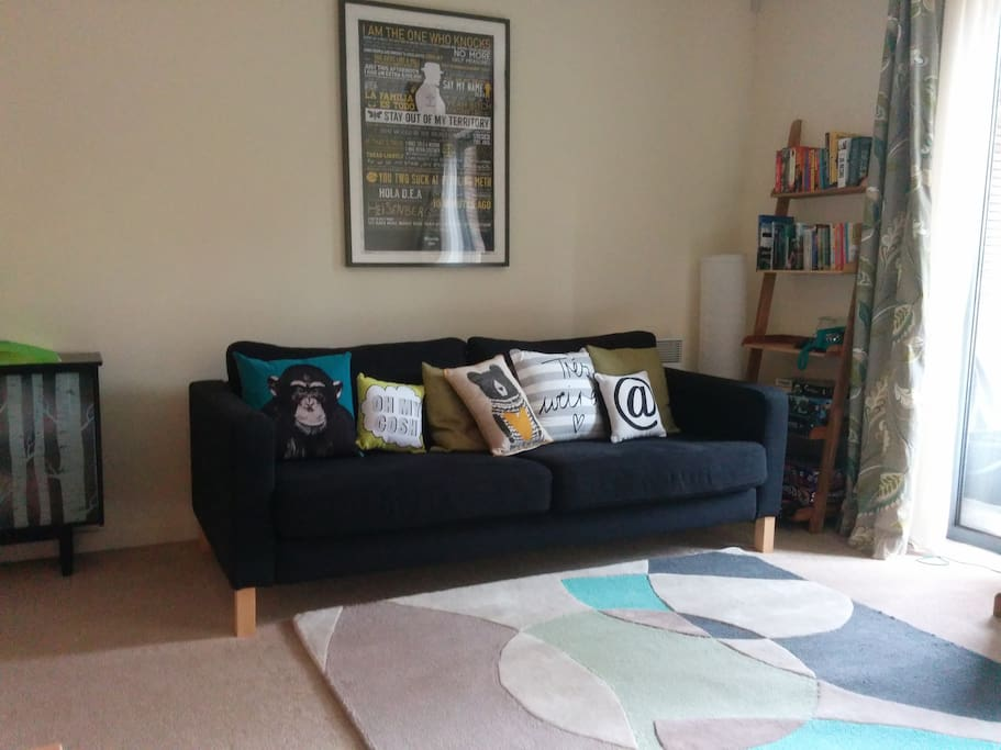 Lovely bright and airy living room with super comfy sofa