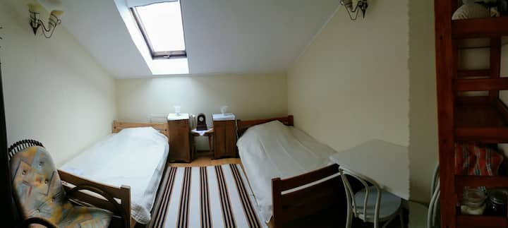 Cozy room with two beds