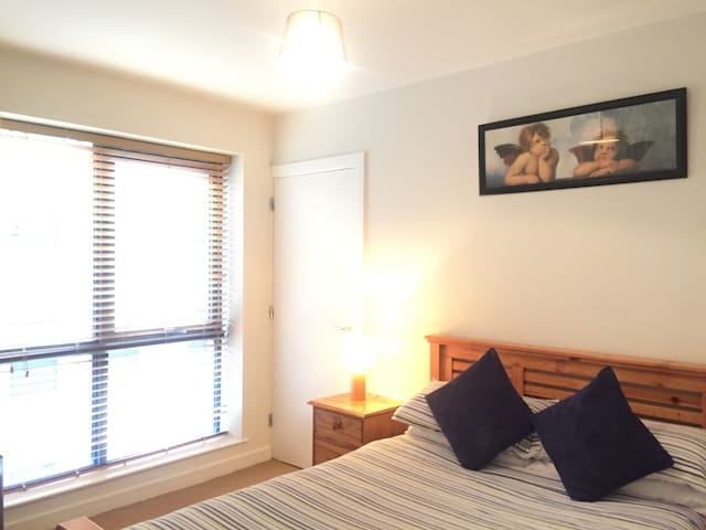 Bright double room/shower in Dublin City Center
