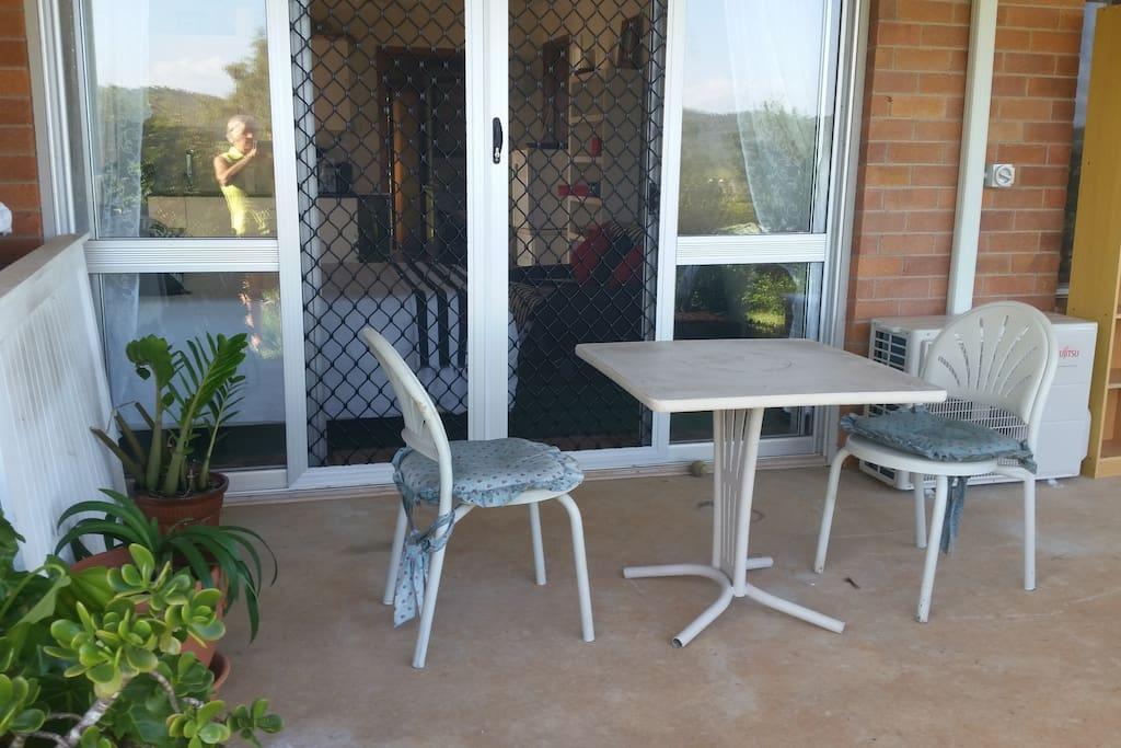 veranda off granny flat