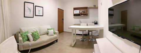 Loft moderno e confortável, centro, Parque Halfeld