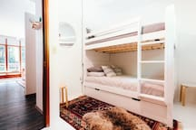 Bunk room (with option of trundle bed also).  Each bunk is a double / full bed.