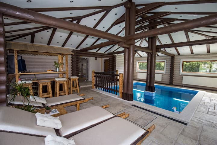 Luxury Wooden Pool House RINA-Fužine