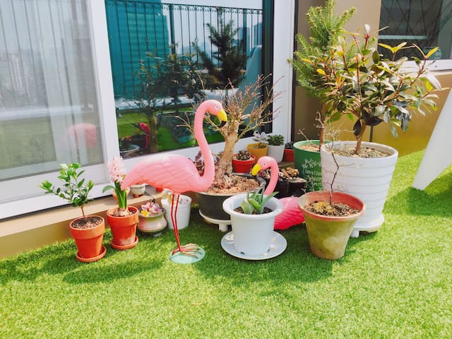 ((Dongdaegu station)) mini terrace house, 'Aloha' - 대구광역시 - Apartamento