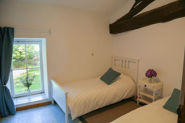 Twin room with single beds
