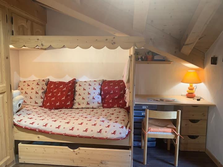 Chambre dans un chalet proche de Morzine