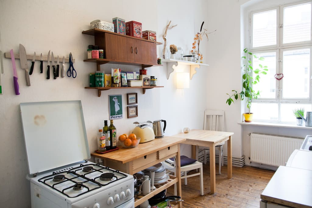 cozy kitchen with all appliances necessary