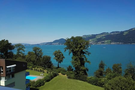 Penhouse with Spectacular View & Beach Acccess - Spiez - Condominium