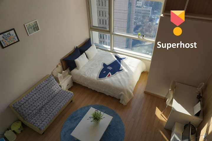 Modern duplex studio in Daegu City - Jung-gu