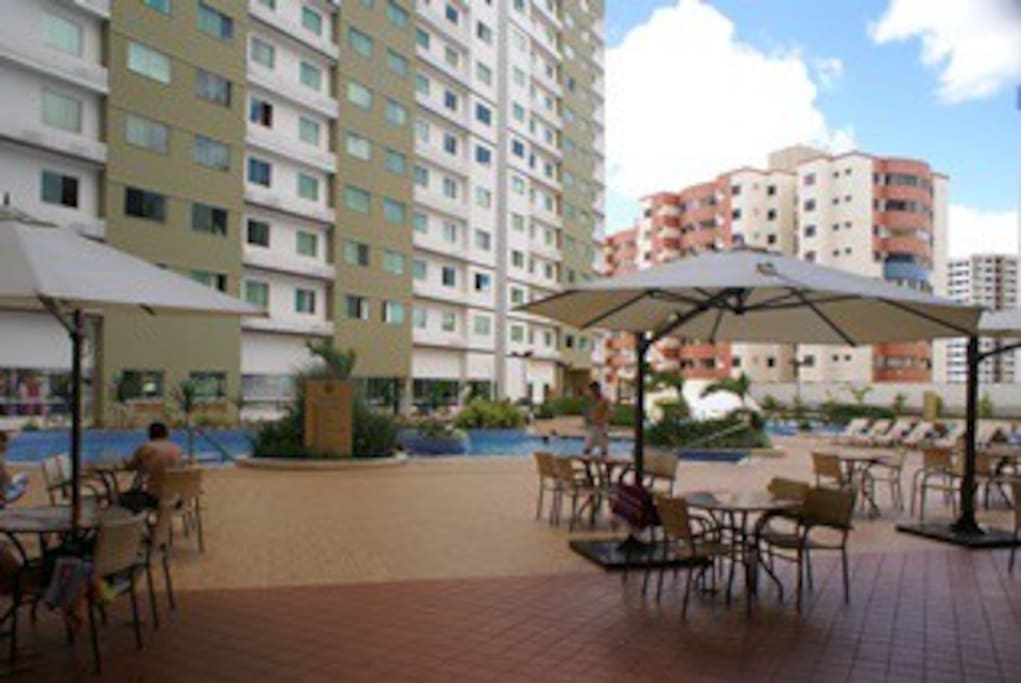 área interna do hotel