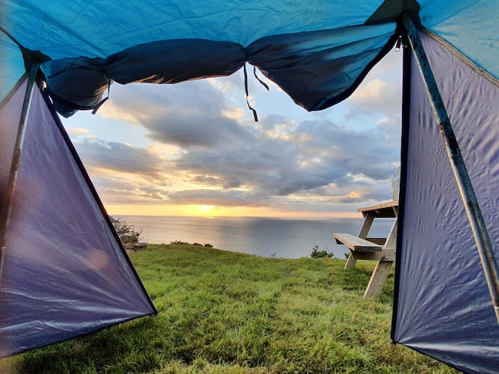 Quiet remote wildish camping,  stunning sea views!