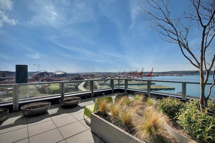 Stylish Water View 1Bd next to Pike Place!