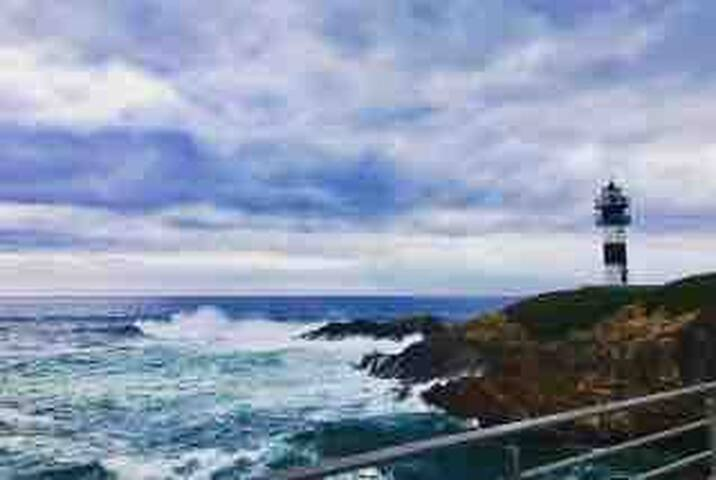 Faro de la Isla Pancha en Ribadeo