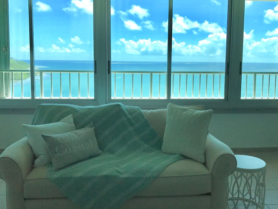 The best views in Puerto Rico from a beautifully decorated, recently renovated apartment.