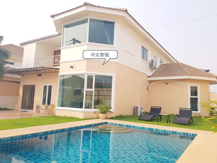 Central pattaya 7 bedroom pool villa #236