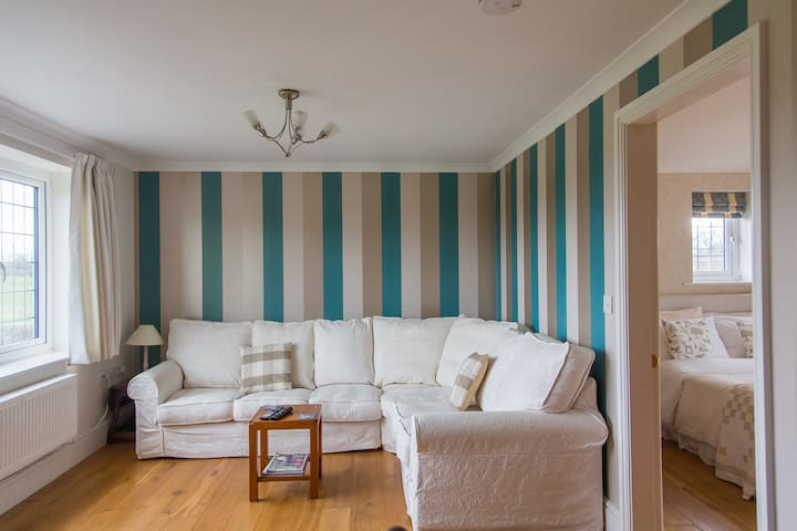 Spacious living room for your exclusive use which adjoins the bedroom.
