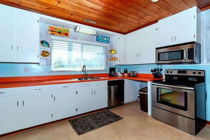 Well equipped kitchen.