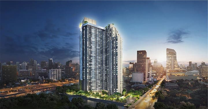 Luxury Condo Life  Rama 9, rooftop swimming pool