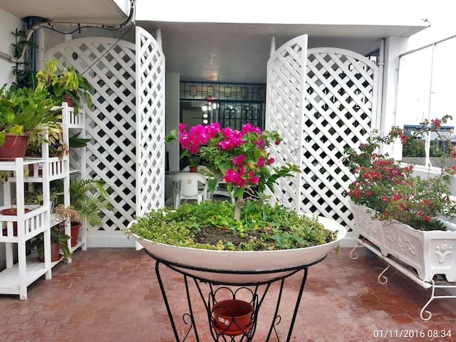 Cozy 1 bdrm apt, 5' walk to beach. - Manta - Daire
