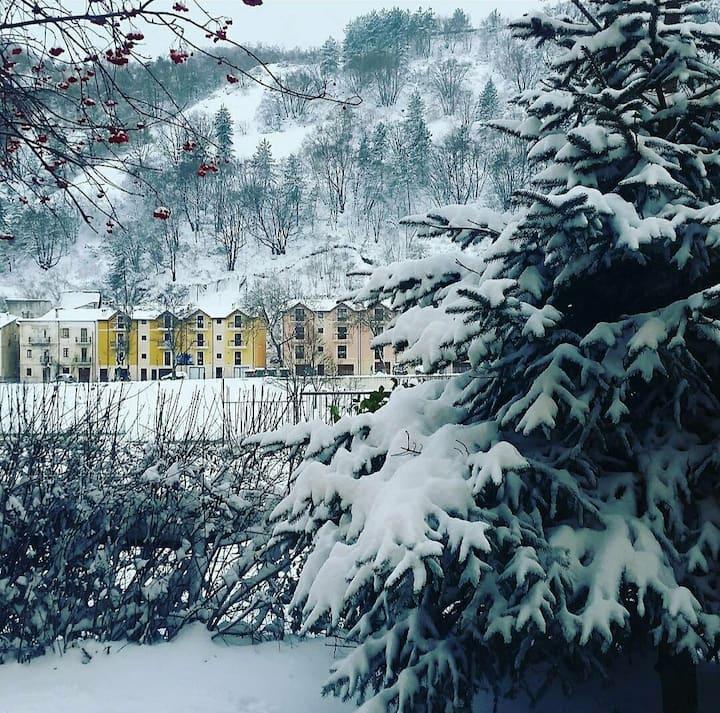 Casa in montagna con giardino, vicino Roccaraso