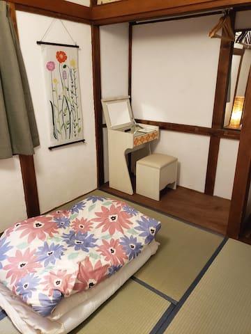 ①2019年11月OPEN☆【女性専用ゲストハウス 花柄ホリデー】個室♪畳のお部屋、1~3名様!