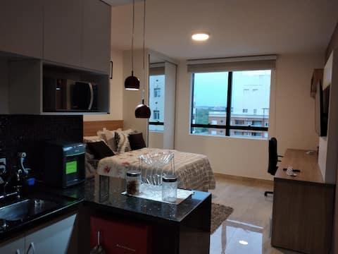 Apartamento pequeno e confortável
