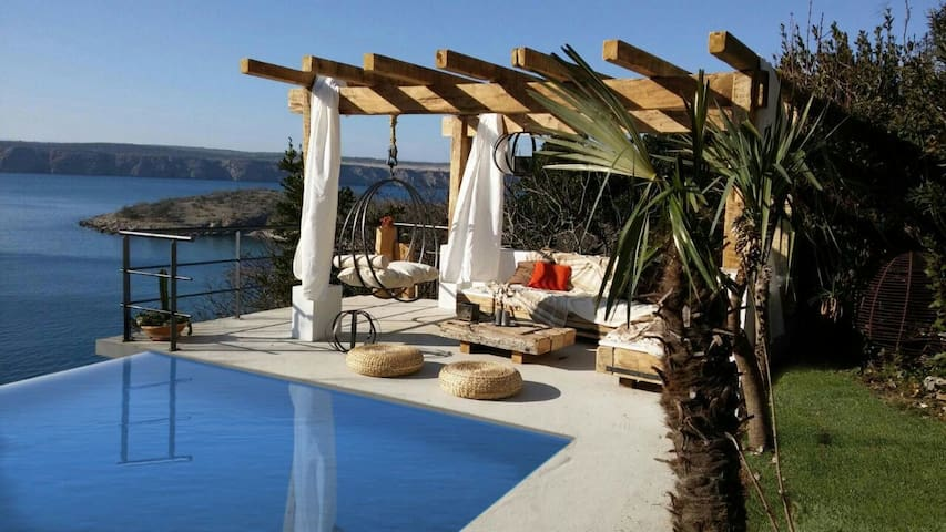 Beach Pool House with artistic touch