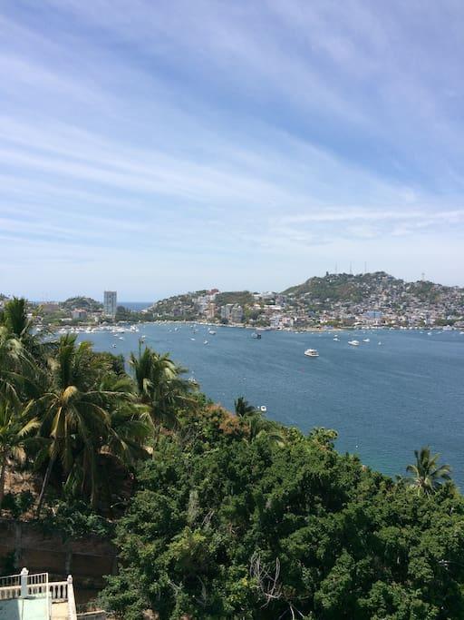 Vista de la hermosa bahía de Acapulco
