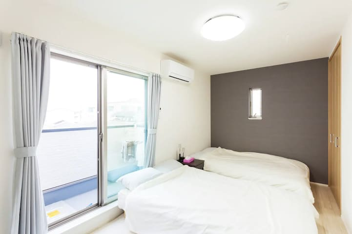 Newly Built!5min Namba.30s to Korea Town/Free wifi