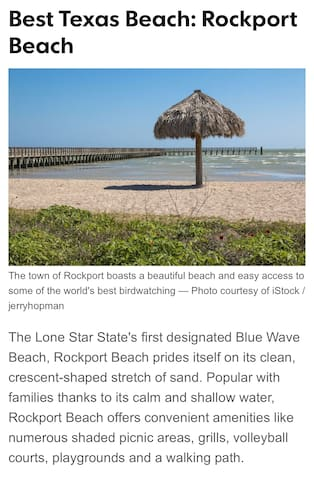 Rockport  Beach voted #1 in Texas !