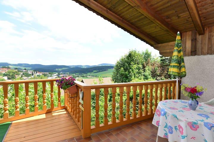 Accogliente appartamento vacanze nella Foresta Bavarese con due balconi